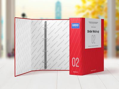 Binder Mock-up psd label branding stationery template mock-up mockup binder