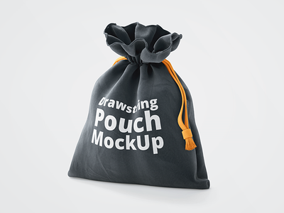 3D Drawstring Pouch Free Mockup freebie free psd logo mockup identity fabric cotton cloth bag drawstring sack shopping bag 3d mockup