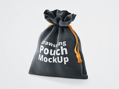 3D Drawstring Pouch Free Mockup freebie free psd logo mockup identity fabric cotton cloth bag drawstring sack shopping bag 3d mockup