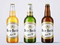 500ml Beer Bottle Mock-up
