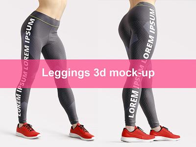 Leggings 3d Mockup 3d leggings mockup printful fabric fitness girl leggings mock-up