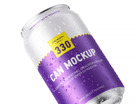 330ml Can Mock-up Set soda mockup label energy drink cola coke can mockup can branding beverage beer 330ml