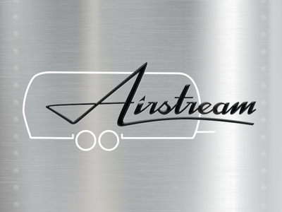Airstream Logotype illustration travel rv camping script logo logotype typography
