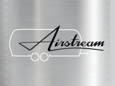 Airstream Logotype illustration travel rv camping script logo logotype typography