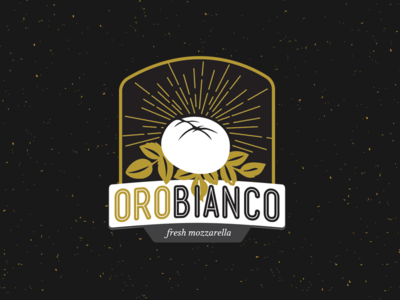 Orobiano Logo white gold artisan cheese mozzerella brandidentitydesign branding logodesign