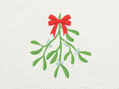 Mistletoe Icon vector art illustration icondesign norsemythology nordic christmas decorations customs christmas mistletoe