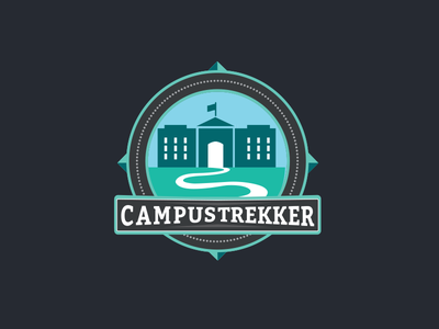 Campustrekker Logo design education identity badgedesign logodesign logo