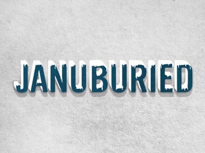 Januburied snowy type letter styles lettering typography cold icy frozen texture snowcaps frosty