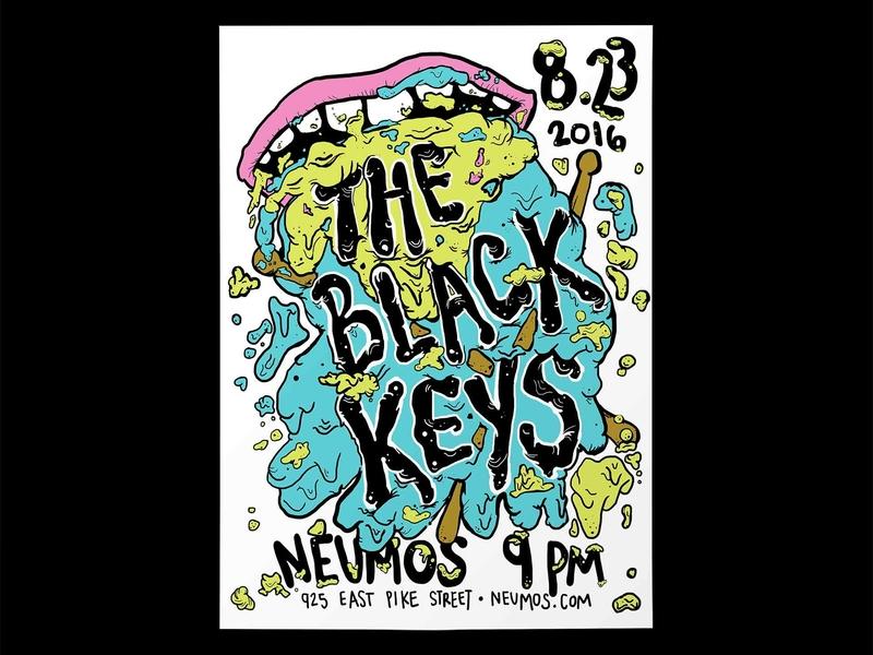 The Black Keys - Poster Design posters poster design illustration
