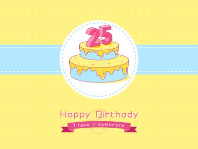 My Birthday - 2 Invitations
