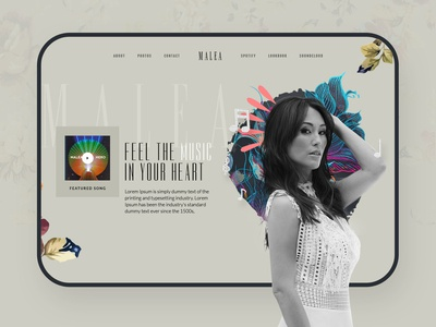 Malea Home page concept