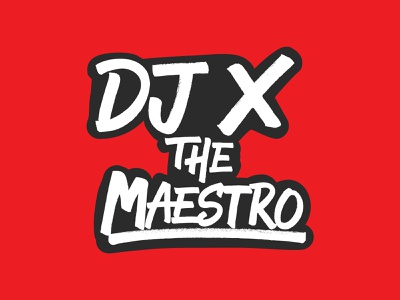 Proposed Logo for DJ That Didn't Make the Cut v3 Red graphicdesign branding logo design handlettering lettering typography type