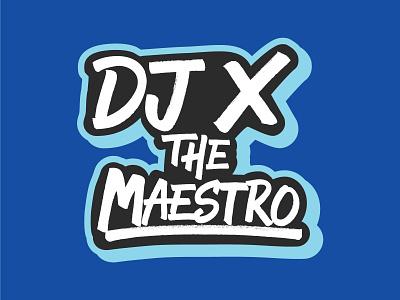 Proposed Logo for DJ That Didn't Make the Cut v3 Blue dj dj logo graphic design logo vector design branding lettering typography type