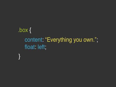 .box CSS Joke