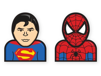 Superman and Spiderman
