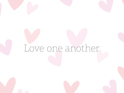 Love One Another v6 pattern encouragement christianity love love one another christian typography type lettering
