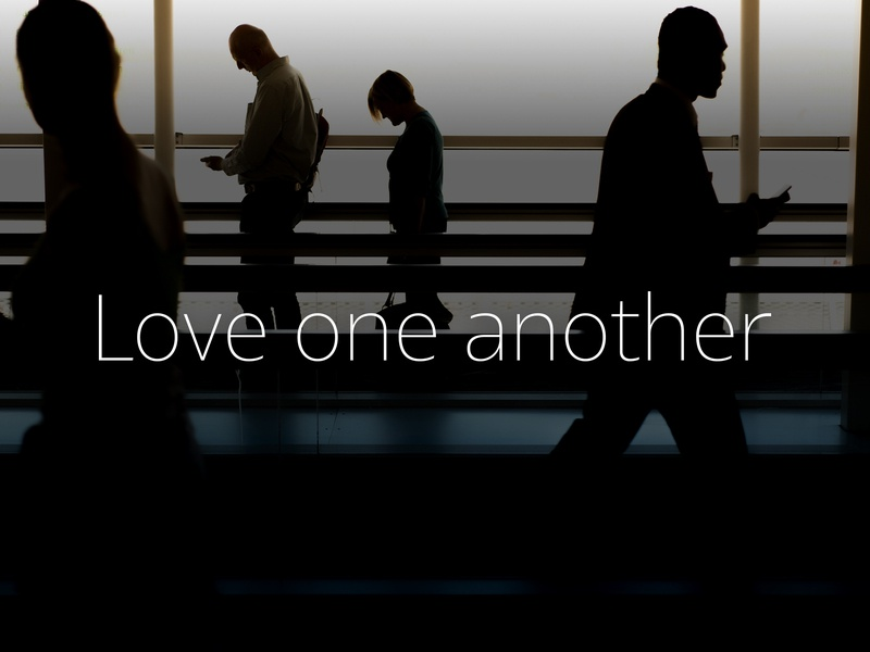 Love One Another v7 encouragement modern love one another love christian typography type
