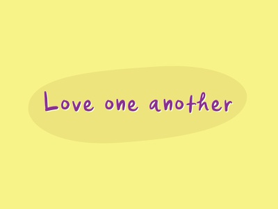 Love One Another v9 encouragement love one another love lettering christian typography type