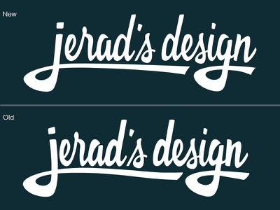 New Version of Personal Logo handlettering design logo lettering typography type
