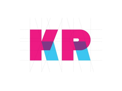 Just K & R with the same parts design typedesign modern typeface sans bold graphicdesign magenta blue uppercase letters type