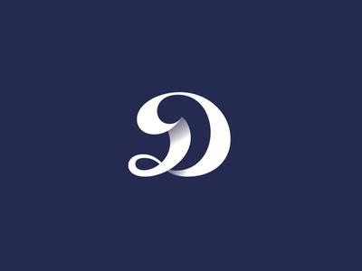Dynamic D ribbon dynamic monogram logotype d logo typography letter