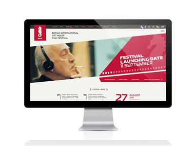 Batumi International Art House Film Festival WEB DESIGN akaki razmadze georgia adjara batumi film festival propaganda web design