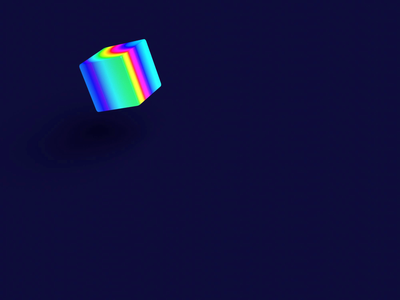 Color Cube - 3D Loading (Lottie) page loading blender cube lottie 3d