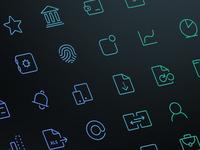 Bankin - Line icons set