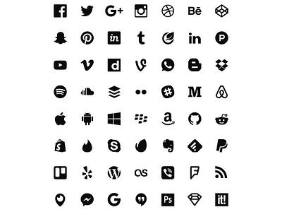 50 Free Flat Icons (Sketch & Illustrator) pixel perfect freebie illustrator sketch 2015 color flat set social icons download free