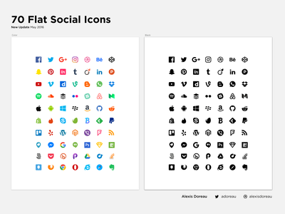 70 Flat Social Icons for Sketch (Updated) iconjar freebie vector instagram resources download free flat social icons update sketch