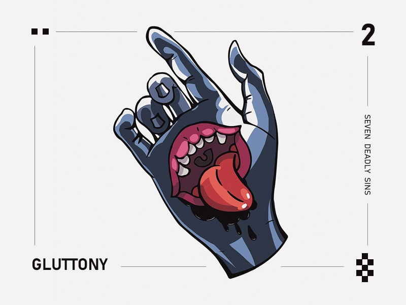 Gluttony The Seven deadly sins