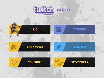 Twitch panels overwatch