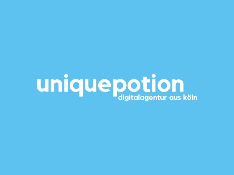 Logo uniquepotion typography design logo logodesign