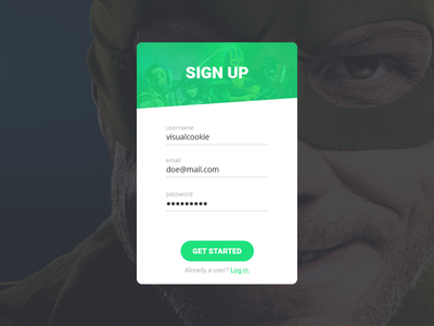 DailyUI 001: Sign Up