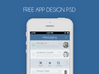 Messaging App PSD