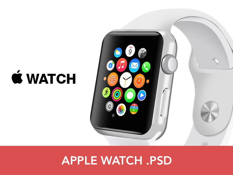 Free Apple Watch PSD frame vector i angle free psd watch apple