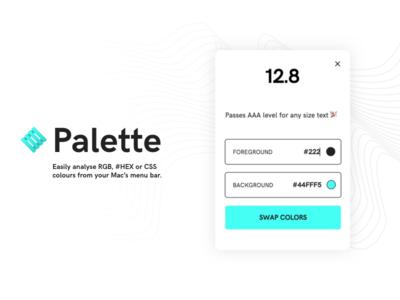 Palette - Colour Contrast Analyser