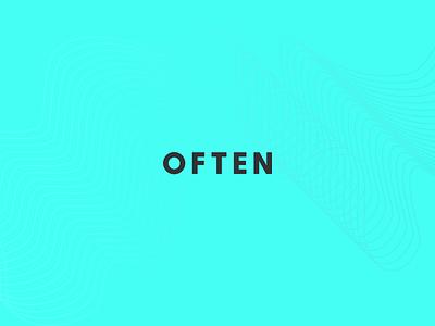 OFTEN x Palette app mac design product brand contrast color colour palette
