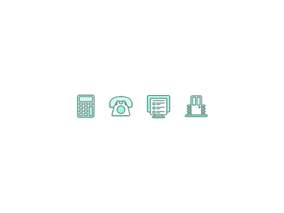 Icons nested dual color line colour selection icons icon