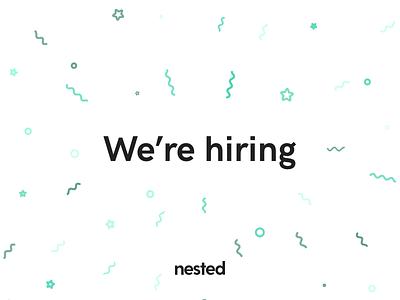 We're Hiring property estate real designer product job post hiring