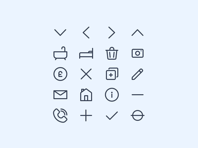 Icon Set Preview set delete trash phone coin edit property home icons icon ui