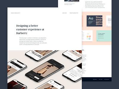 New Portfolio brand work personal website design portfolio