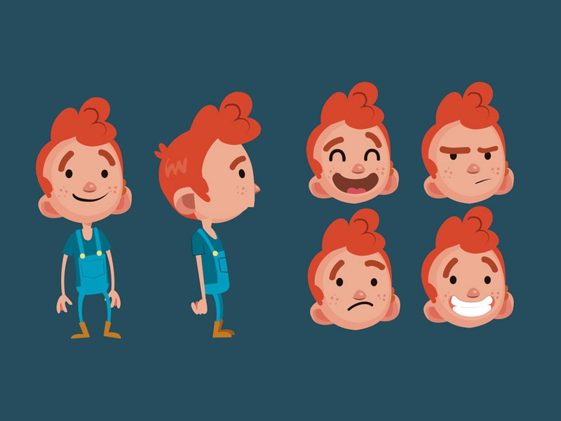 Character design / Kid vector kid design character