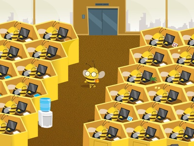 bees office vainui de castelbajac vector office bee