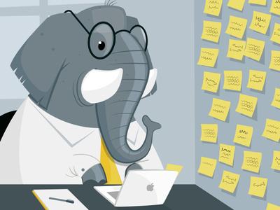 why elephants never forget vainui de castelbajac post it office elephant