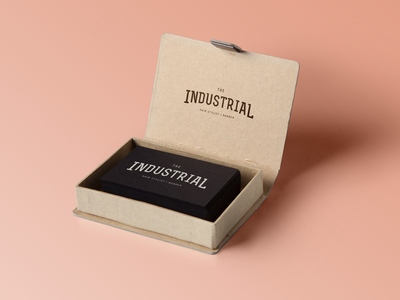 The Industrial box cards business cards identity branding logo hairstylist barber hair