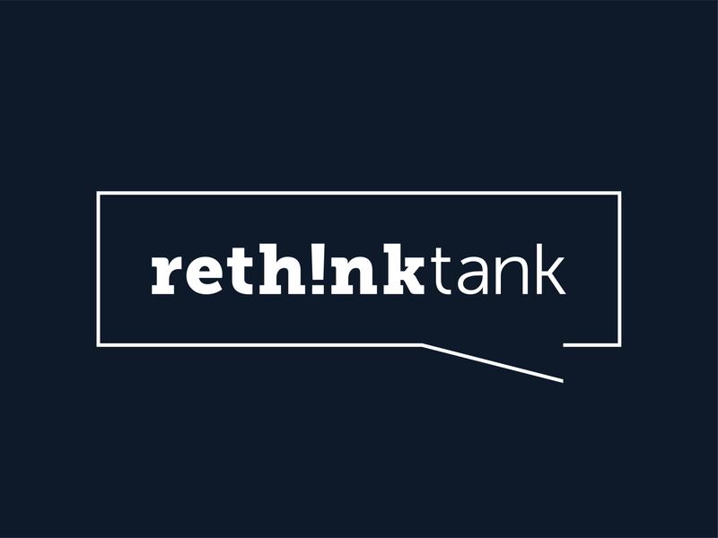 Rethink Tank minimalistic typogaphy brand design logo design logo branding