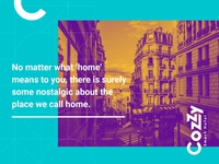 Brand Identity for Cozzy app webdesign typography illustration mobile app dunjamilosev moyedesign moye cozzy vacation hotel branding