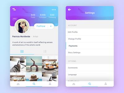User Profile 006# - Daily Ui follow social instagram 006 daily ui app