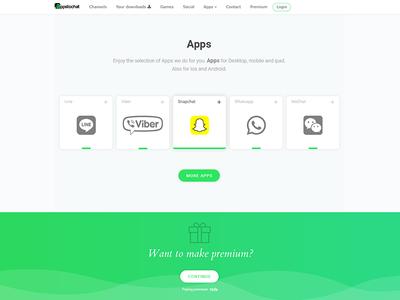 Appchat Landing material premium social network green laning app